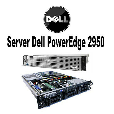 SERVER RICONDIZIONATO DELL POWEREDGE 2 x XEON QUAD CORE 16 GB RAM 146GB RACK