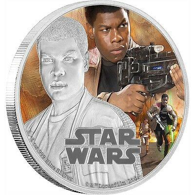 STAR WARS: THE FORCE AWAKENS - FINN - 2016 1 oz Proof Silver Coin - IN STOCK