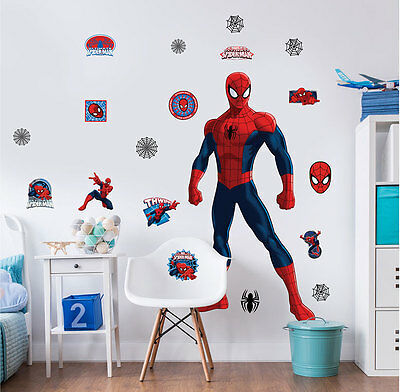 Wandsticker Marvel Spiderman XXL Walltastic Wandtattoo ca. 1,22m groß Kinder