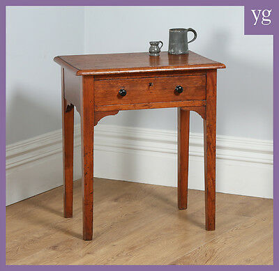 Antique Victorian English Pitch Pine Side / Hall Wine Lamp Occasional Table Desk
