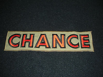 CHANCE Drilling 1970's Sew On Back Patch Original