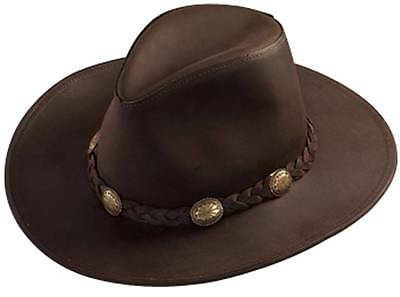 cf7ef8669f6 USA MADE Henschel Hat DUDE Cowhide Brown Leather Western Cowboy Hat + size  avail