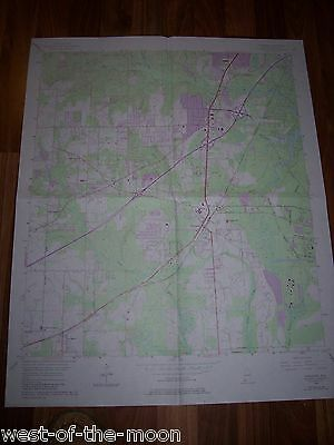 1953 COLOR SURVEY THEODORE ALABAMA USGS MAP CHART free shipping