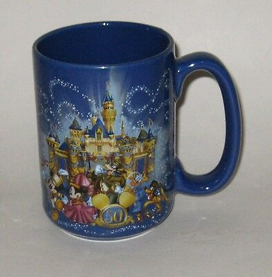Disneyland Exclusive Embossed Ceramic Mug 50th Castle Happiest Homecoming Earth