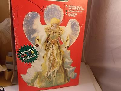 "Christmas Fiber optic 12"" Angel Centerpiece Or Tree Topper"