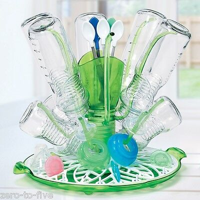 New Munchkin Sprout Drying Rack  - Keep Baby Bottles, Toddler Cups of Surfaces
