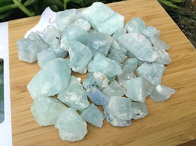 Rough Raw Aquamarine Wholsale bulk Natural crystal wholesale gemstone 330grams