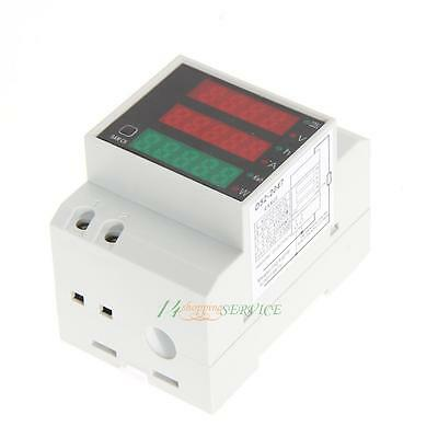 Digital Din Rail LED Ammeter Current Volt Amp Meter Voltmeter Display AC80-300V