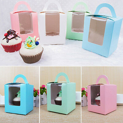 Perfect Fairy Cake/Single Cupcake/Muffin Boxes With Clear Window Gift Box