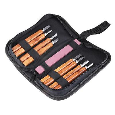 Wood Carving Hand Chisels Tools Kit for Carpenters w/ Whetstone professional set
