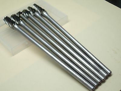 6 x 10MM 150mm Long THK Tungsten Carbide ALUMINUM CUT Rotary Burr Burs 6mm shaft