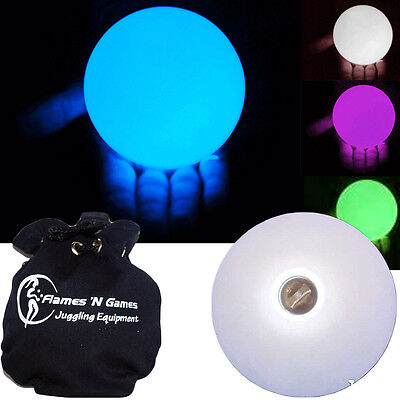 LED GLOW CONTACT  JUGGLING BALL 100mm  Multifunction (27 settings) + Bag