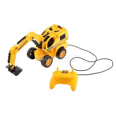 Remote Control Excavator Electric Digger Car Light Construction Tractor Toy