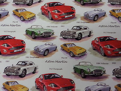 Aston Martin Gift Wrapping paper