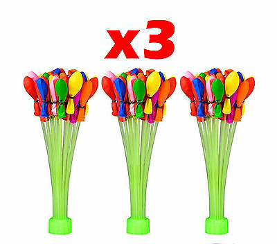 GLOBOS DE AGUA x3 MAGIC BALLOONS WATER GLOBO BALLOON RELLENAR