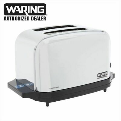 Waring WCT702 Commercial Light Duty 2 Slot Toaster 1 Year Warranty