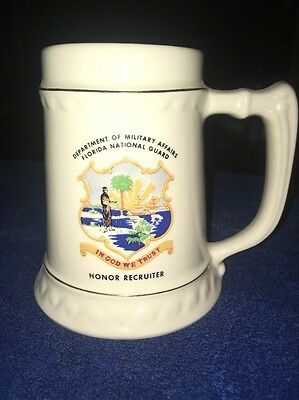 Florida National Guard Department of Military Affairs Ceramic Stein Mug
