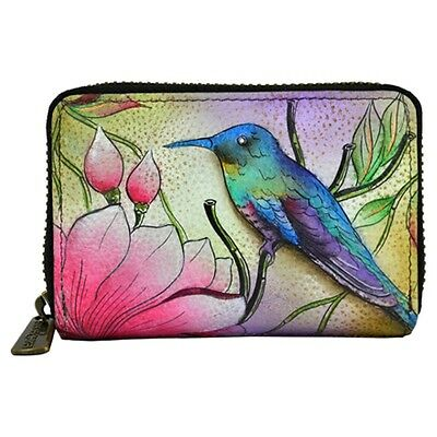 """Anuschka #1110 SPP """"SPRING PASSION"""" Credit and Business Card Holder"""" 4.5""""x5"""" NWT"""
