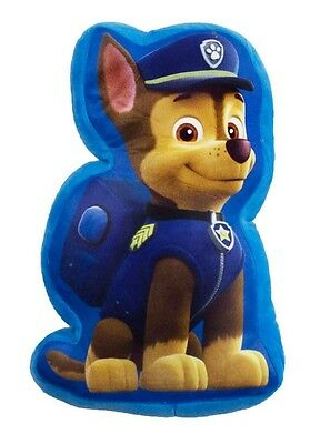 New Official Childrens Blue Chase Shaped Paw Patrol Cushion Pillow