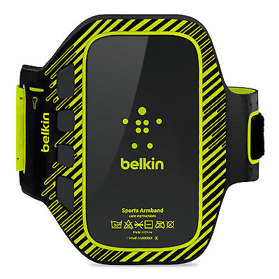 Belkin Samsung Galaxy S3 SIII EaseFit Plus Armband Case/Cover Black/Yellow