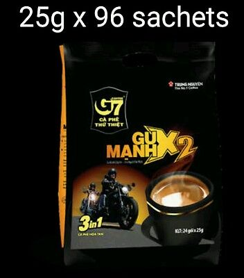 25g x 96 sachets Vietnam Trung Nguyen G7 STRONG X2 Instant Coffee 3in1 Coffeemix