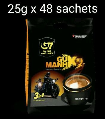 25g x 48 sachets Vietnam Trung Nguyen G7 STRONG X2 Instant Coffee 3in1 Coffeemix