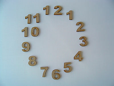 3cm Wooden MDF Clock Face Numbers craft shapes blanks various pack sizes