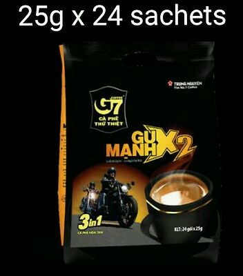 25g x 24 sachets Vietnam Trung Nguyen G7 STRONG X2 Instant Coffee 3in1 Coffeemix