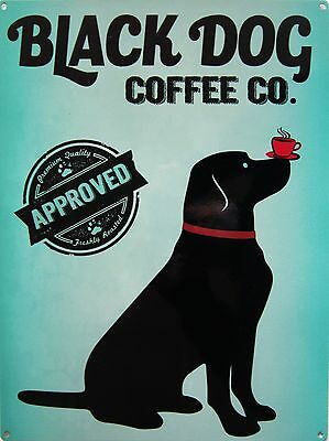 Black Dog Coffee Co Pet Metal Sign
