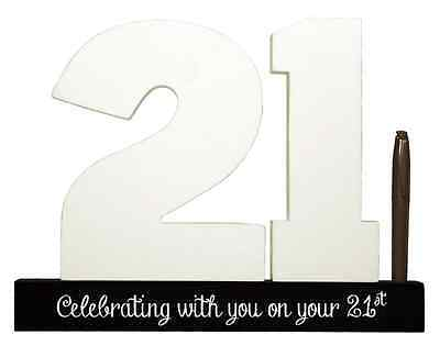 NEW Splosh Wooden Signature Number 21st Birthday Plaque You Sign With Pen SGN21