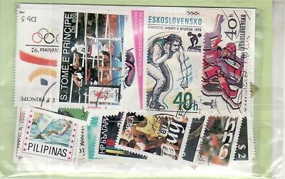 Lot 50 Tp Differents Obliteres Themes Sport