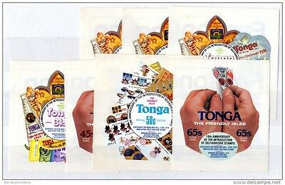 Tonga 1979 10th Anniversary of Self Adhesive Stamps 7 Values Mint MNH X3370