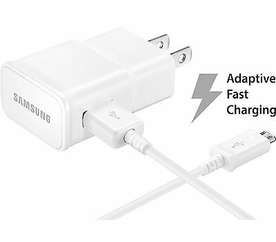 OEM Adaptive Rapid Fast Charger for Samsung Galaxy Note 4 5 S6 EDGE + 5ft Cable