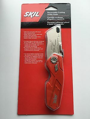 Brand New Sealed SKIL Retractable Folding Slide-Lock Box Cutter Utility Knife