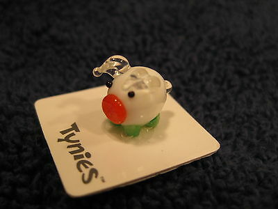 TIA PIG WHITE TYNIES Tiny Glass Figure Figurines Collectibles NEW 040
