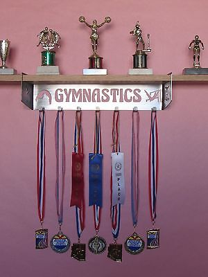 Gymnastics Trophy Shelf and Medal Display