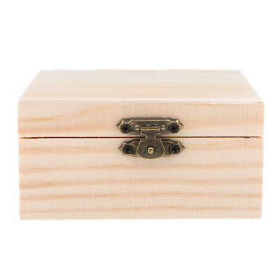 Wooden Unfinished Wood Gift Jewelry Box for Kids Toys DIY Crafts Woodcrafts