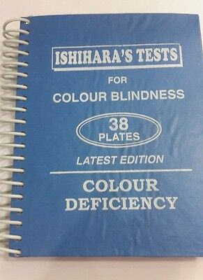 ISHIHARA'S TESTS  38 PLATES LATEST EDITION FOR COLOUR BLINDNESS Healthcare EDH