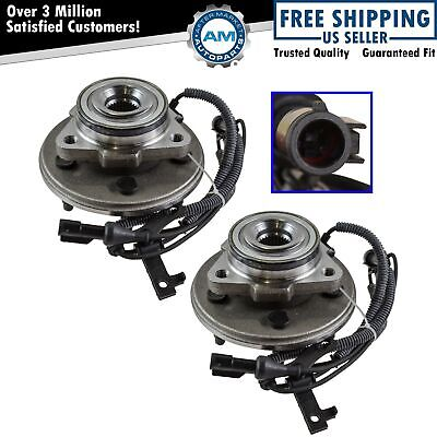 Wheel Hub & Bearing Assembly Front Pair Set for 06-10 Mountaineer Explorer