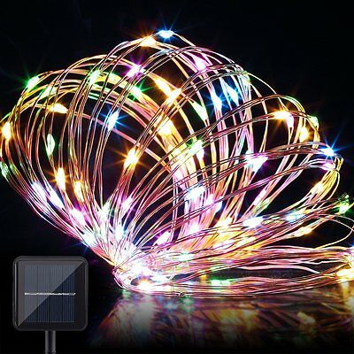 Solar Outdoor String Lights 100 LEDs Starry String Lights  Ambiance Light Xmas