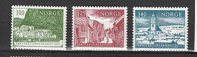 Lot 3 Tp Neufs Norvege 1975 Architecture - Monuments