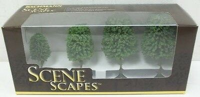 Bachmann Trains inches 3 inches  Deciduous Trees 4 Per Box
