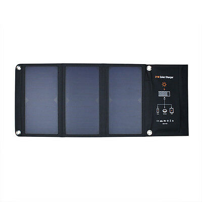 21W 5V Foldable Solar Panel Charger for Cell Phones and Tablet Pads Sun power Du