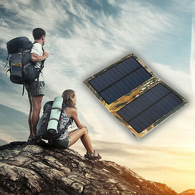 7W 5V 1.2A Portable Solar Panel Charger for Cell Phones and Tablet Pads, Foldabl