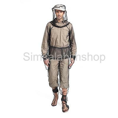 Outdoor Camping Fishing Mosquito Insect Mesh Protect Jacket Trousers Set XL