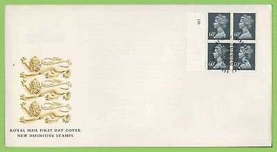 G.B. 1994 £2.40 4 x 60p pl no. booklet pane Royal Mail First Day Cover, Windsor