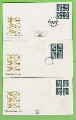 G.B. 1994 £2.40 booklet panes on three Royal Mail First Day Covers