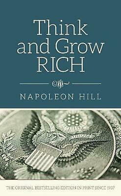 Think and Grow Rich by Napoleon Hill (English) Hardcover Book Free Shipping!
