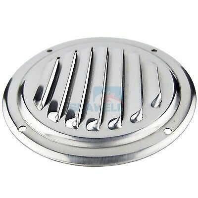 """4"""" Stainless Steel Round Louvered Vent Marine Boat Vent 100mm Caravan Vent"""