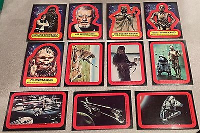 1977 Star Wars COMPLETE SERIES 2 STICKERS SET Mint /NrMT Topps Vintage 11 Cards